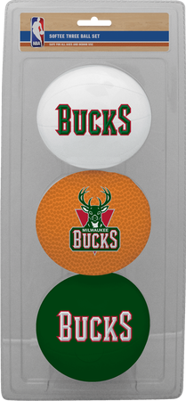 NBA Milwaukee Bucks Three-Point Softee Basketball Set
