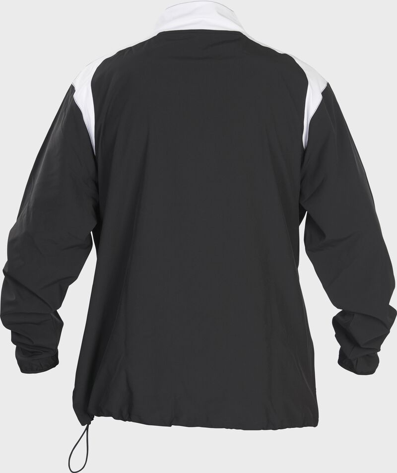 Back of Rawlings Black Adult Long Sleeve Quarter-Zip Jacket - SKU #FORCEJ-B-88