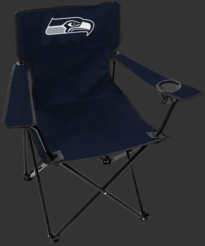 Front of Rawlings Navy Blue NFL Seattle Seahawks Gameday Elite Chair With Team Logo SKU #00551085111