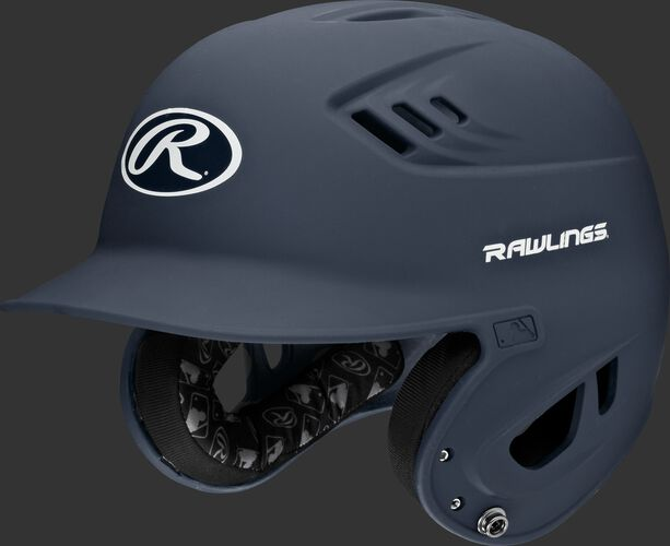 A navy R16MS Velo senior batting helmet with Cool-Flo vents