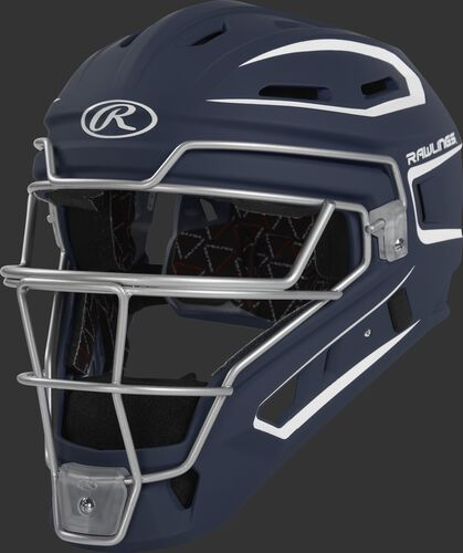 CHV27J navy Velo 2.0 youth catcher's helmet with white trim