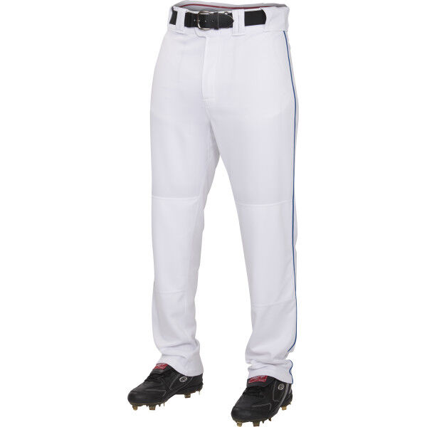 Adult Semi-Relaxed Piped Pant White/Navy