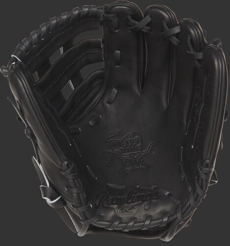 PROCS5 Rawlings Heart of the Hide 11.5-inch infield glove with a black palm and black laces