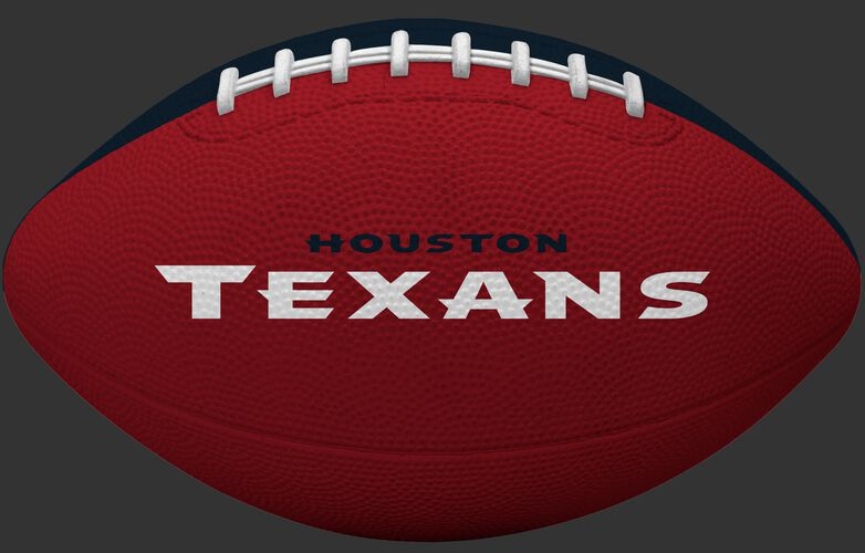 Red side of a Houston Texans Gridiron tailgate football