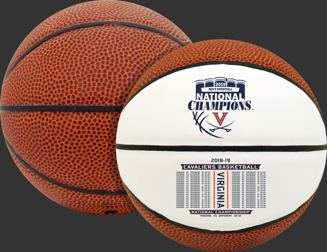 Rawlings Brown and White 2019 NCAA National Champions Virginia Cavaliers Mini Size Basketball With Team Logo SKU #04533040729