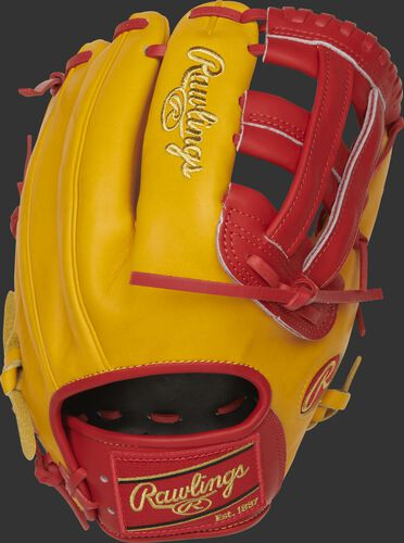 PRO206-6GTS 12-Inch Heart of the Hide H-web glove with a gold tan back