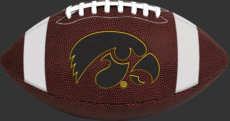 Brown NCAA Iowa Hawkeyes Football With Team Logo SKU #04623075811
