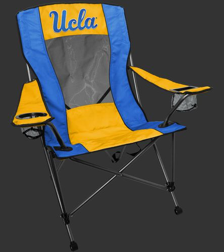 A blue/yellow UCLA Bruins high back chair with the team logo on the back - SKU: 09403065519