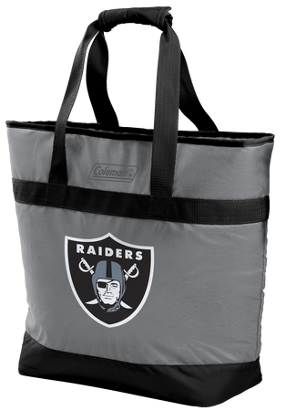 Rawlings Oakland Raiders 30 Can Tote Cooler In Team Colors With Team Logo On Front SKU #07571072111