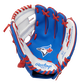 A blue/white Rawlings Toronto Blue Jays youth glove with a Blue Jays logo in the palm - SKU: 22000004111 image number null