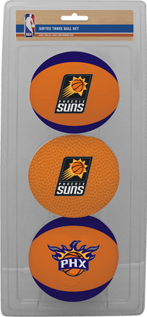 NBA Phoenix Suns Three-Point Softee Basketball Set