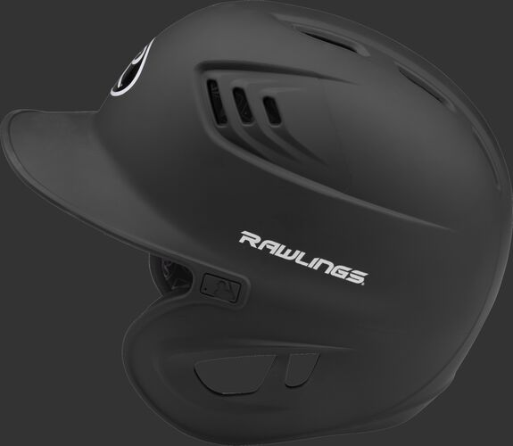 Coolflo High School/College Matte Batting Helmet Black