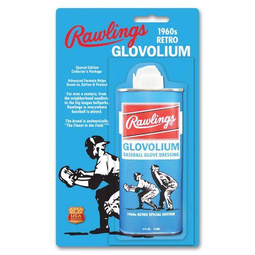 Rawlings Blue Retro 1960s Glovolium Tin With Brand Logo SKU #G1960