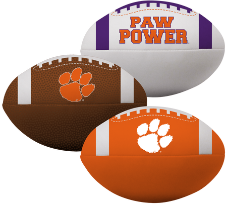 NCAA Clemson Tigers 3 Softee Football Set