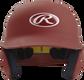 Front of a matte cardinal MACH junior size batting helmet image number null
