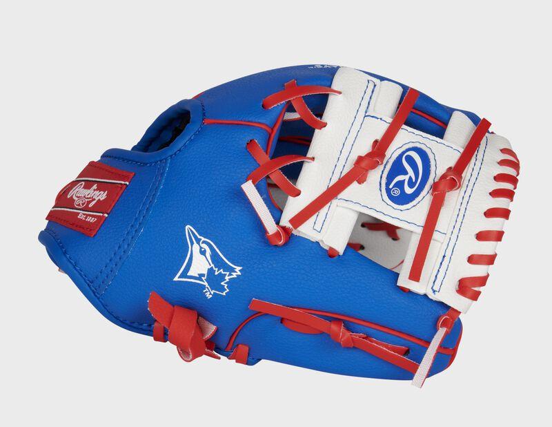 Thumb of a blue/white Toronto Blue Jays 10-inch team logo glove with a white I-web - SKU: 22000004111