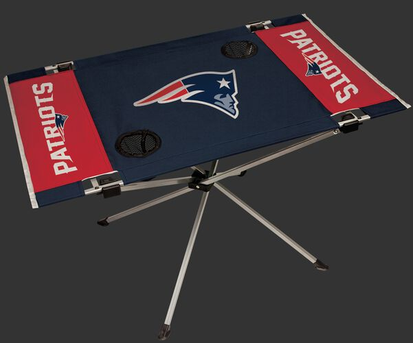 Rawlings Navy and Red NFL New England Patroits Endzone Table With Team Logo, and Team Name SKU #03391076111