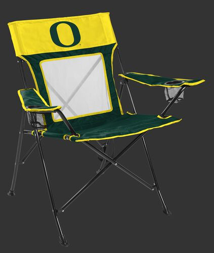 Front of Rawlings NCAA Oregon Ducks Game Changer Chair With Team Logo SKU #00643095111
