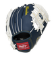 Back of a navy/white Milwaukee Brewers 10-inch I-web glove with a red Rawlings patch - SKU: 22000006111 image number null