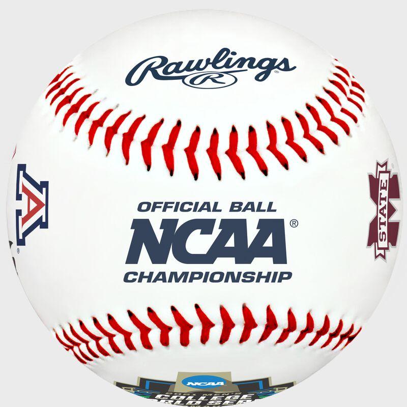 A 2021 NCAA College World Series contenders replica baseball with the NCAA logo - SKU: 35393012531