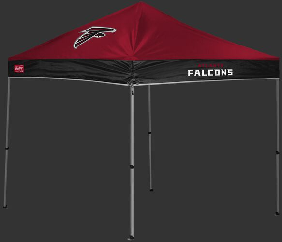 A red/black Atlanta Falcons 9x9 shelter with a team logo on the left side - SKU: 03231060112