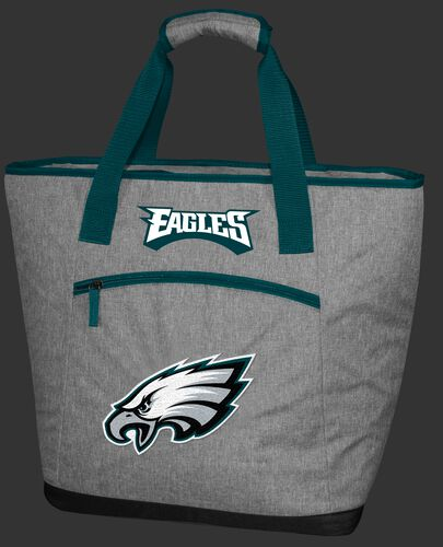 A Philadelphia Eagles 30 can tote cooler with an embroidered team logo on the front - SKU: 10311080111