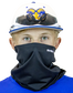 A player wearing a Rawlings protective neck gaiter over his mouth and nose - SKU: RMSKNG-BLK image number null