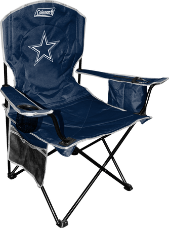 Front of Rawlings Navy Blue NFL Dallas Cowboys Chair With Team Logo SKU #02771065111