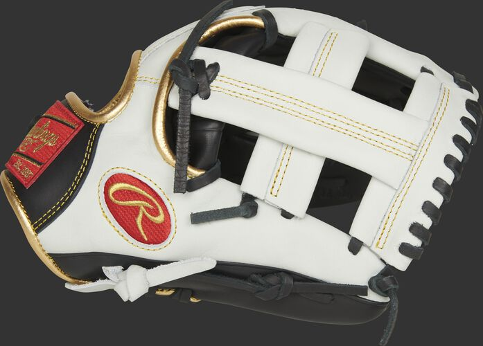 Thumb of a white EC1125-20BW Rawlings 11.25-inch Encore infield glove with a Single Post Web and extended web base design