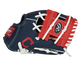 """Thumb of a navy/red Cleveland Baseball Team 10-inch team logo glove with a red I-web and """"C"""" logo on the thumb - SKU: 22000014111 image number null"""