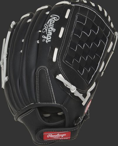 RSB140GB RSB 14-inch outfield glove with a black back and Velcro back design
