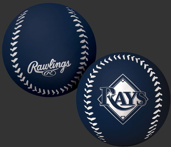 Rawlings Tampa Bay Rays Big Fly Rubber Bounce Ball With Team Logo on Front In Team Colors SKU #02870009112
