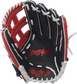 Navy palm of a Rawlings Breakout youth outfield glove with a red palm stamp and white laces - SKU: RSGBOYPT6-6NS image number null