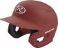Left angle view of a Rawlings MACH helmet with a one-tone matte cardinal shell image number null