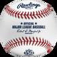 A MLB 2021 Atlanta Braves 150th Anniversary baseball with the Official MLB baseball stamp - SKU: EA-ROMLBATL150-R image number null