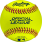 ROLB1Y Yellow Official League youth baseball with a yellow cover and raised seams image number null