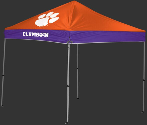 Rawlings Orange and purple NCAA Clemson Tigers 9x9 Canopy Shelter With Team Logo and Name SKU #04033010111