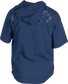 Back of a navy Rawlings Gold Collection short sleeve hoodie with a navy script Rawlings logo across the back - SKU: GJJ-N image number null