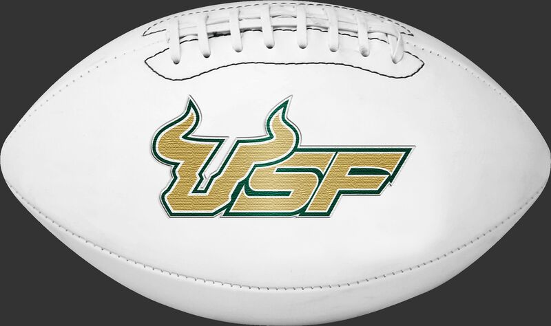 White NCAA South Florida Bulls Football With Team Logo SKU #05733171121