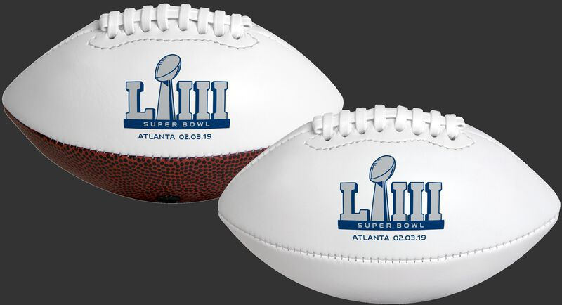 White NFL 2019 Road to Super Bowl 53 Youth Size Football With Super Bowl Logo SKU #06571097116