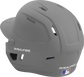 Back left view of a matte silver MACH series batting helmet with air vents image number null