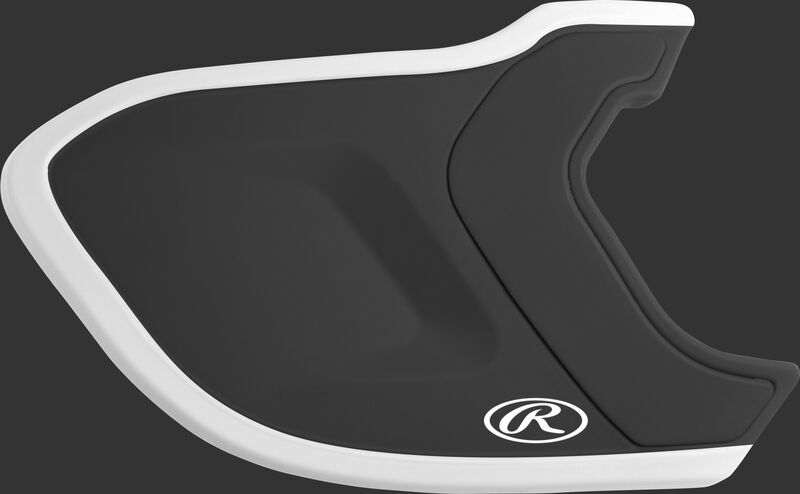Black/White MEXT2L Mach EXT Two-Tone batting helmet extension