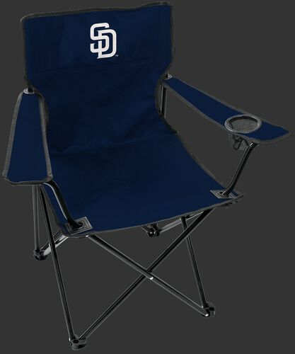 Front of Rawlings Navy Blue MLB San Diego Padres Gameday Elite Chair With Team Logo SKU #06110019111