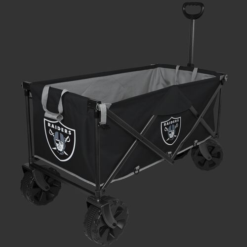 NFL Oakland Raiders wagon with pull handle, sturdy wheels and team logos printed on the outside SKU #00931072519