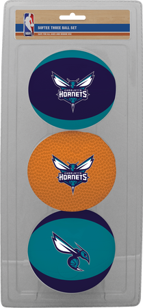 NBA Charlotte Hornets Three-Point Softee Basketball Set