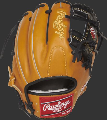 PROS204-2RTB 11.5-inch Pro Preferred infield glove with a rich tan kip leather back