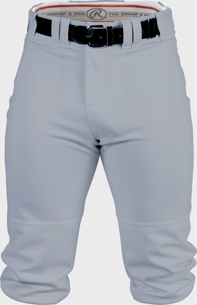 Front of Rawlings Blue Gray Adult Premium Knee High Pant - SKU #BP150K