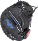 PROSP13B 32.5-inch Salvador Perez game day pattern catcher's mitt with a black back and wrist strap image number null