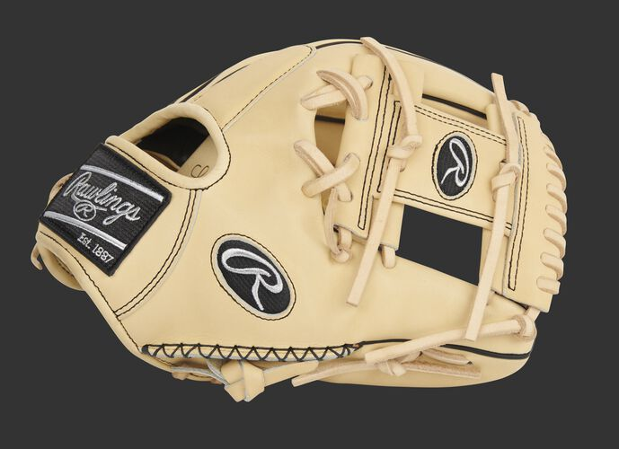 Thumb of an exclusive Pro Preferred Speed Shell infield glove with hand sewn welting and camel I-web - SKU: PROS204-2CSS