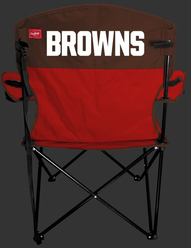 Back Of Rawlings Orange and Brown NFL Cleveland Browns Lineman Chair With Team Name On The Back SKU# 31021064111